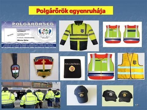 Polgárőrök egyenruhája